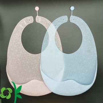 Light-weight Silicone Baby Bibs Adjustable Snap