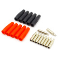 10Pcs Brass 4mm Banana Female Insulated Jack Plug Wire Solder Connector