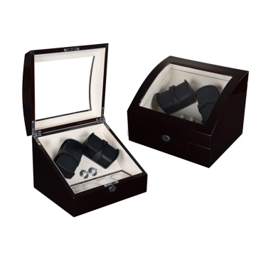 Ebony Beige Velvet Watch Winder