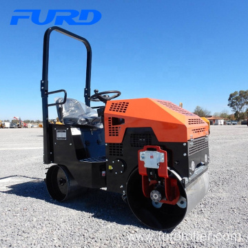 Vibratory mini road roller compactor double drum asphalt road roller price FYL-860