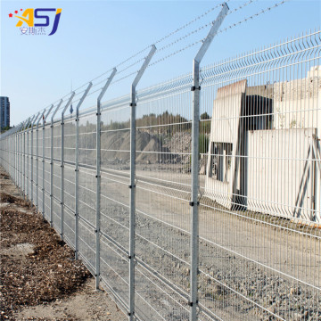triangle bending wire mesh fencing panels and gate