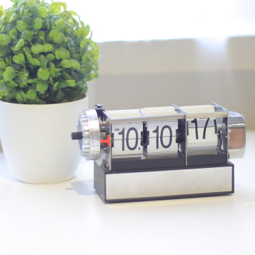 White Dynamic Alarm Flip Clock