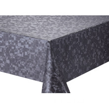 Solid Round  Embossed Fabric Tablecloth