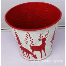 Red gift storage iron bucket