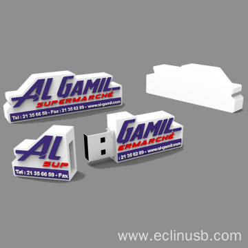 2D Custom Logo Shaped USB Flash Drive
