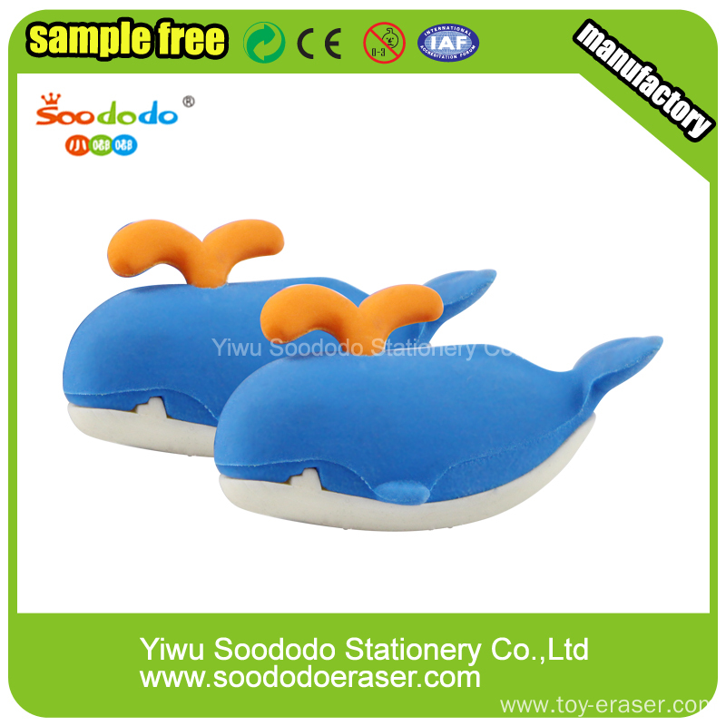 Red Penguin Cute Eraser.Animal puzzle promotion eraser