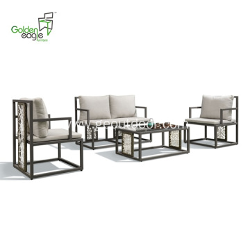 4pcs aluminum new design wicker sofa set