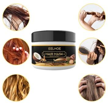 Hair Treatment Mask Coconut Oil Repair Damage Hair Root Keratin Hair Scalp Treatment Deep Hair Care Mask Nourish 50ml TSLM1