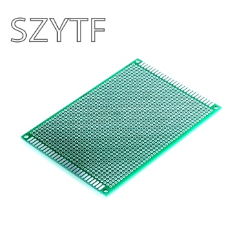 8X12cm 8*12cm Double Side Prototype pcb Breadboard Universal Printed Circuit Board for Arduino 1.6mm 2.54mm Glass Fiber