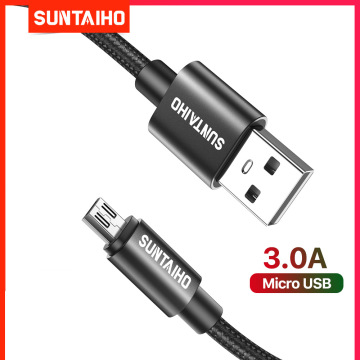 1m 2m 3m Android Micro USB Cable Fast Charging Data Cable for Xiaomi Redmi 4X Samsung S7 S6 J7 PS4 Mobile Phone Microusb Charger