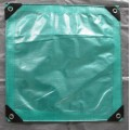 HDPE woven waterproof tarpaulin with eyelets