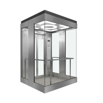 800kg Square Stainless Steel Panoramic Elevator