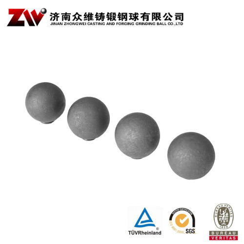 Forged steel ball of B2 steel material