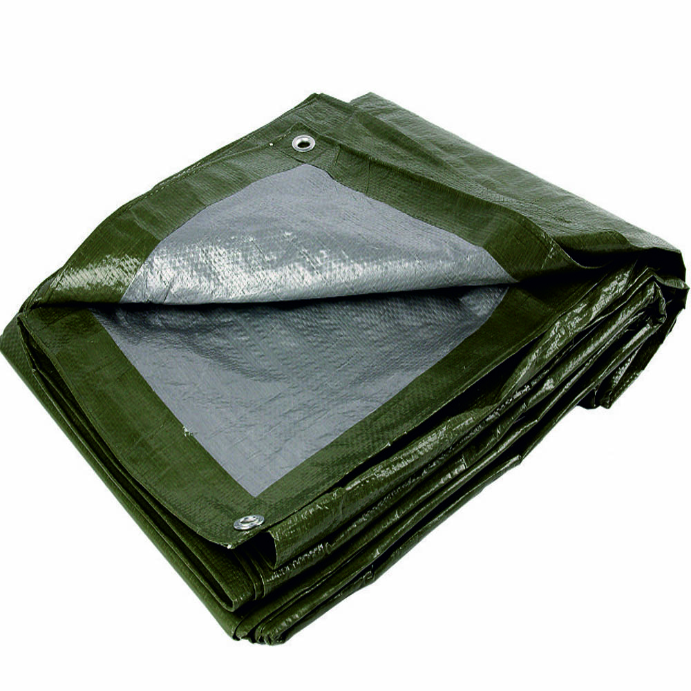 90gsm Olive Green Silver Tarpaulin