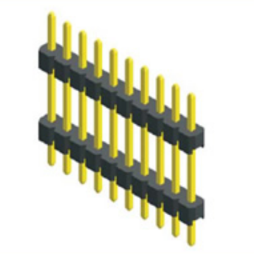 2.00mm Pitch Single Row Double Plastic Straight Type