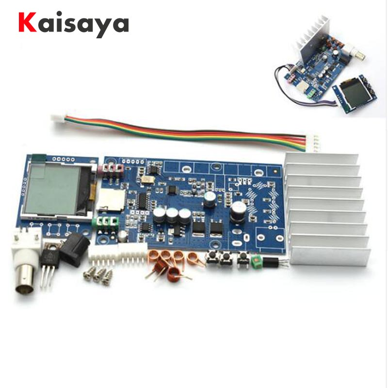 DIY Kit FM 5W 76M-108MHZ stereo PLL FM transmitter suite 7W maximum power frequency adjustable volume with LCD Monitor C5-008