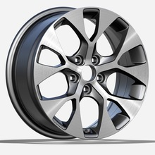 Gunmetal Machined Face Kia Replica Rim 17X7