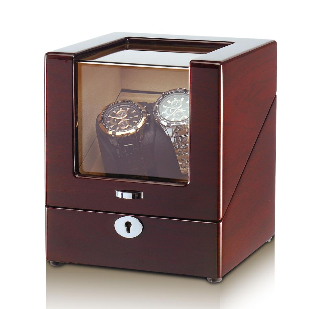 Automatic Wood Watch Winder in Wood-Grain