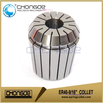 "ER40-9/16"" Precision Collet Clamping Range 0.562""-0.522"""