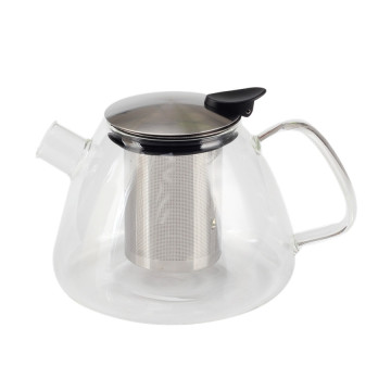 Amazon Top Seller Glass Tea Pot Basket Infuser