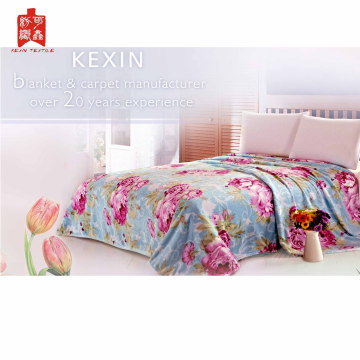 factory wholesale 100% polyester soft warm flannel blanket