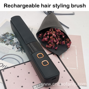 USB rechargeable hair curling brush