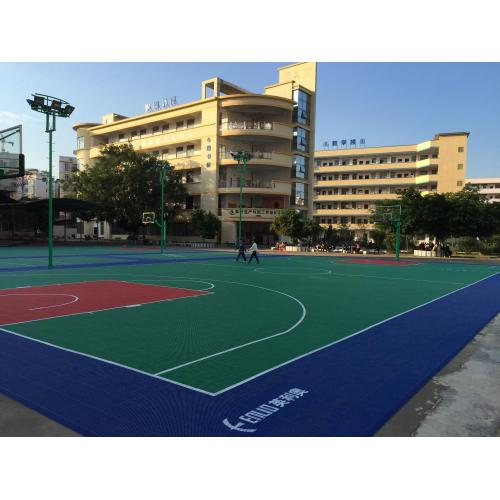 PP Basketball flooring outdoor modular interlocking tiles