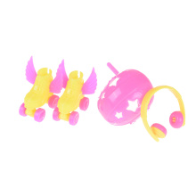 4PCS/Set Fancy Doll Shoes+headset+helmet For Barbie Kids Girls Toy Roller Play Accessories Dolls Decorative Toy Roller Skate