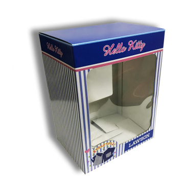 Retail gift boxes with PVC window