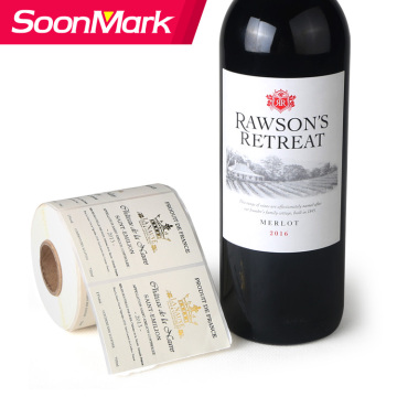 Custom self adhesive sticker label for wine bottle