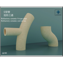 Refractory ceramic S-type pipe