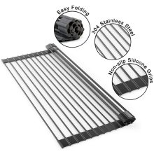 Roll-Up Dish Drying Rack Multi-Use Drying Draining Trivet