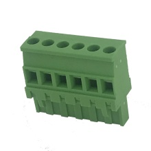 Vertical straight angle female pluggable terminal block