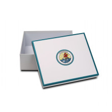 Simple White Empty Gift Boxes With Logo Printing