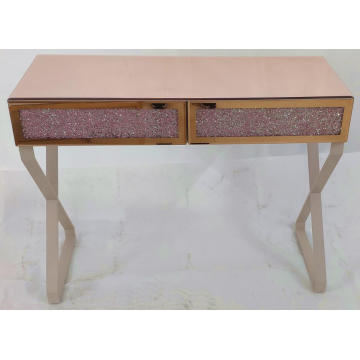Rose Gold Crushed Diamond Pink Dressing Table