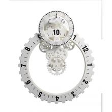 No.3 Big Silver Gear Wall Clock