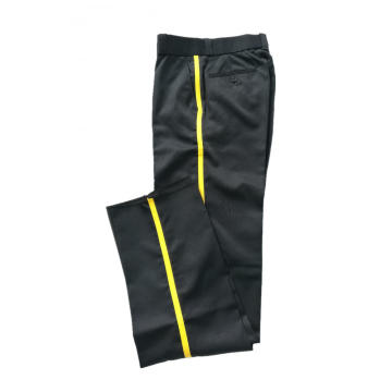 Suit pants Men's poly pants with Yellow stripe