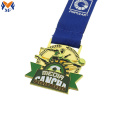Custom green football metal football club medal