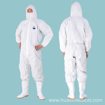 Blue Disposable Protective Coveralls