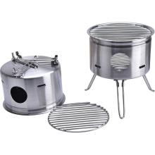 Easy Carry Stainless Steel Camping Stove Backing Stove