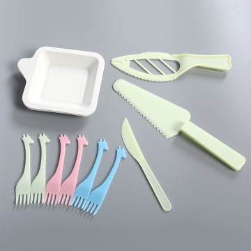 Birthday Party Designed Disposable Paper Fork Plates Sets