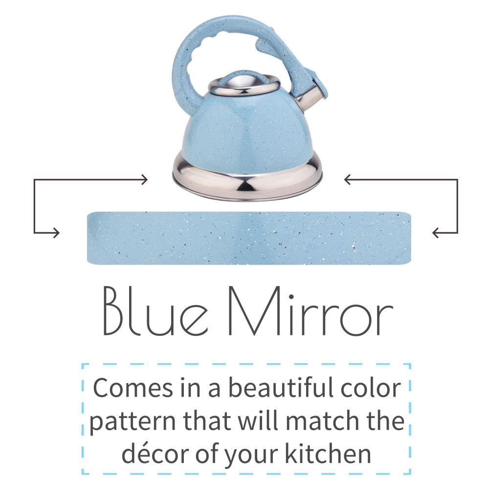 Sky Blue Whistling Tea Kettle