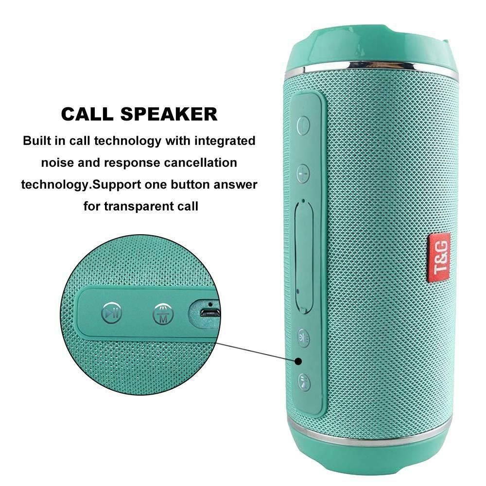 40W Bluetooth Speakers Bass Subwoofer High Power Waterproof Stereo Wireless USB/TF/AUX Portable Outdoor Column Music Sound Box