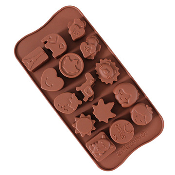 Animal shaped silicone chocolate candy mold