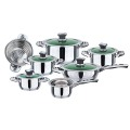 12pcs popular wide edge cookware set 2020