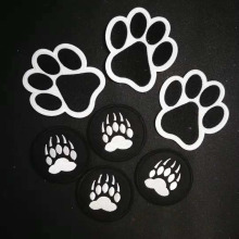 ANIMAL FOOTPRINT BEAR Paw Iron On Patch Embroidered Pet Cat Dog Paw DIY Clothes Stickers Apparel Accessories Badge