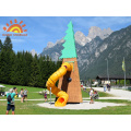 Large Play Set Custom Tube Slide Tower