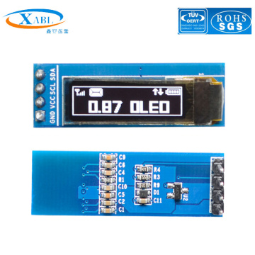 XABL 0.87 Inch OLED Module Resolution 128*32P OLED Display Module SSD1316 4Pin IIC PM material Factory Outlet Custom Size