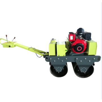 Small steel wheel vibrating road roller