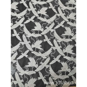 Nylon Cotton Rayon Bird Pattern Cord Lace Fabric